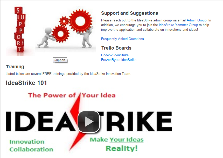 IdeaStrike Support View