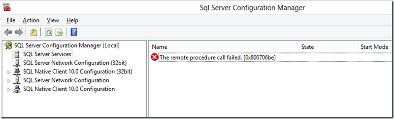 Remote Procedure call failed [0x800706be]